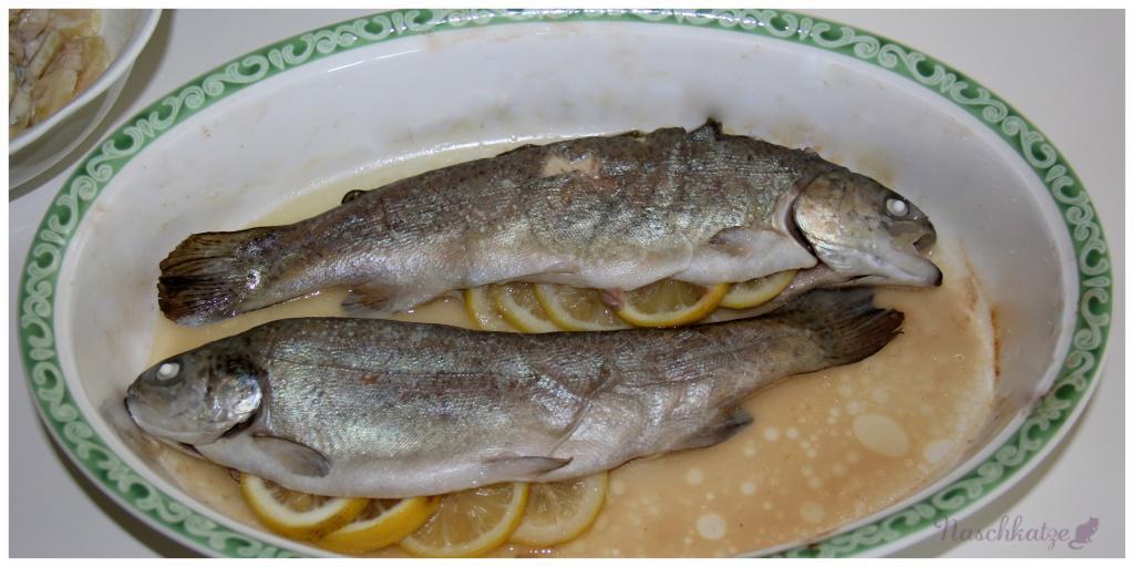 Forelle im Ofen, Schwarzwurzeln u Kartoffeln2