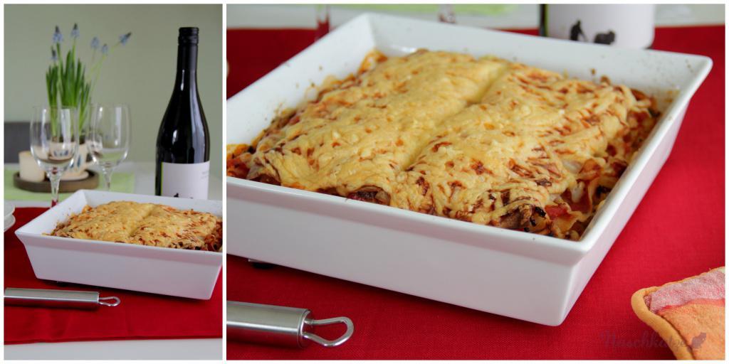 Lasagne mit Blumenkohlhack und Hüttenkäse1