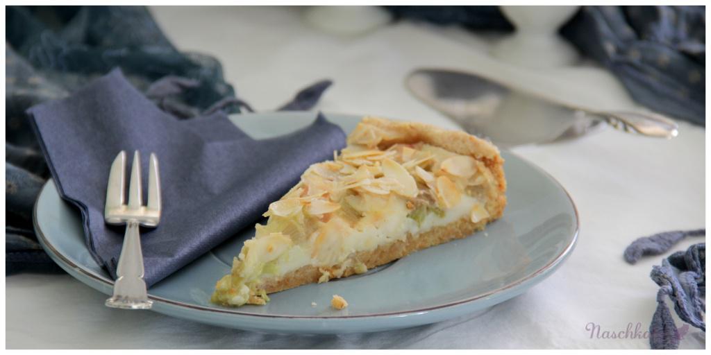 Rhabarberkuchen mit Guss und Mandeldecke_vegan1
