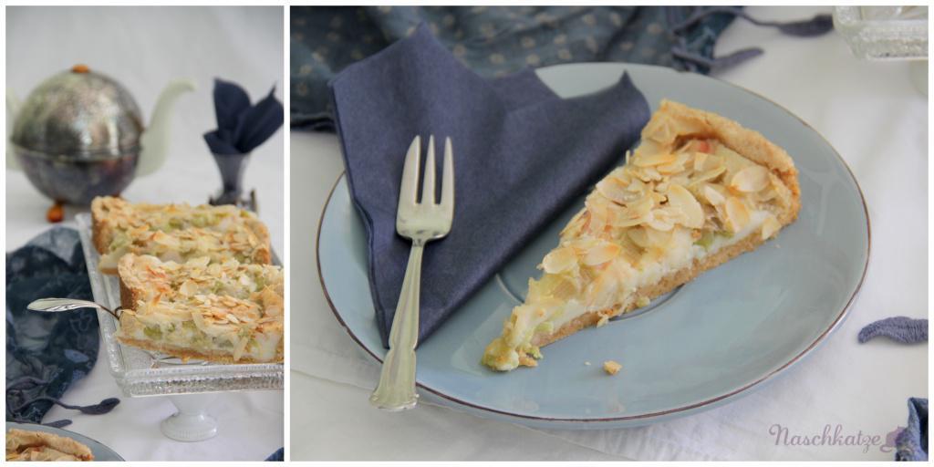 Rhabarberkuchen mit Guss und Mandeldecke_vegan2
