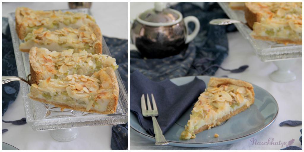 Rhabarberkuchen mit Guss und Mandeldecke_vegan3