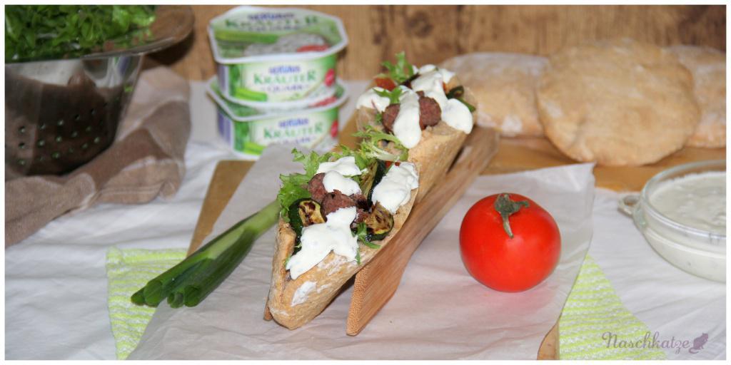 Grill-Döner mit Zucchini und Kräuterquark (2)