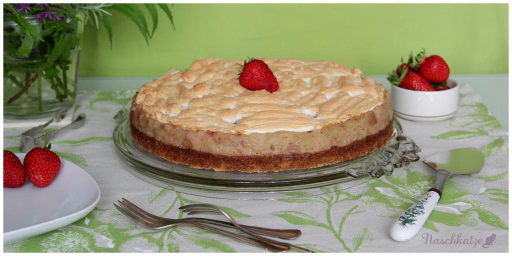 Rhabarber-Kompott-Kuchen mit Baiser1