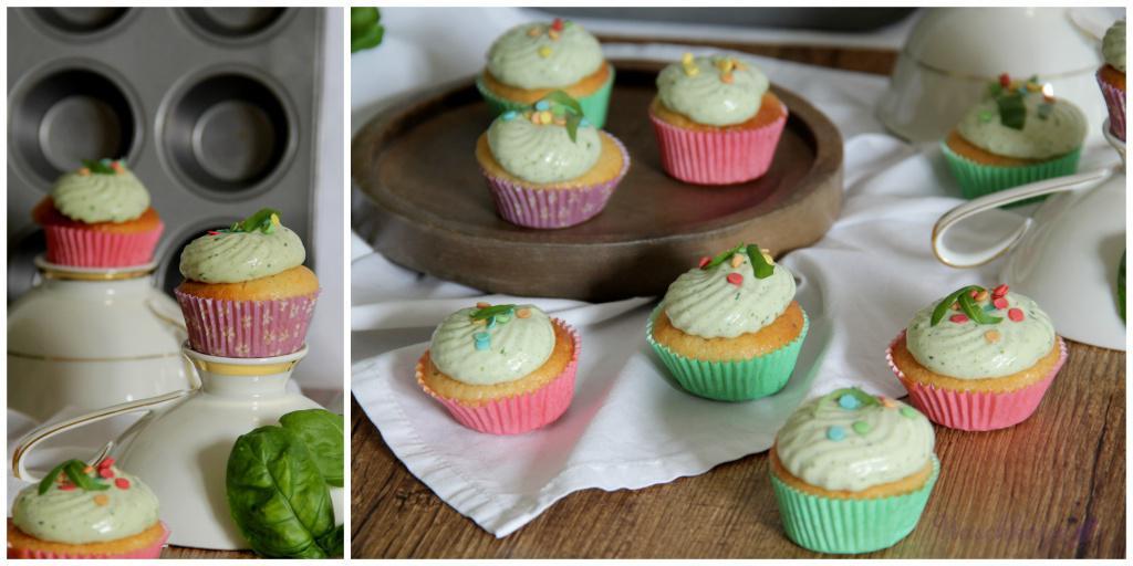 Zitronencupcakes mit Basilikumcreme_vegan2