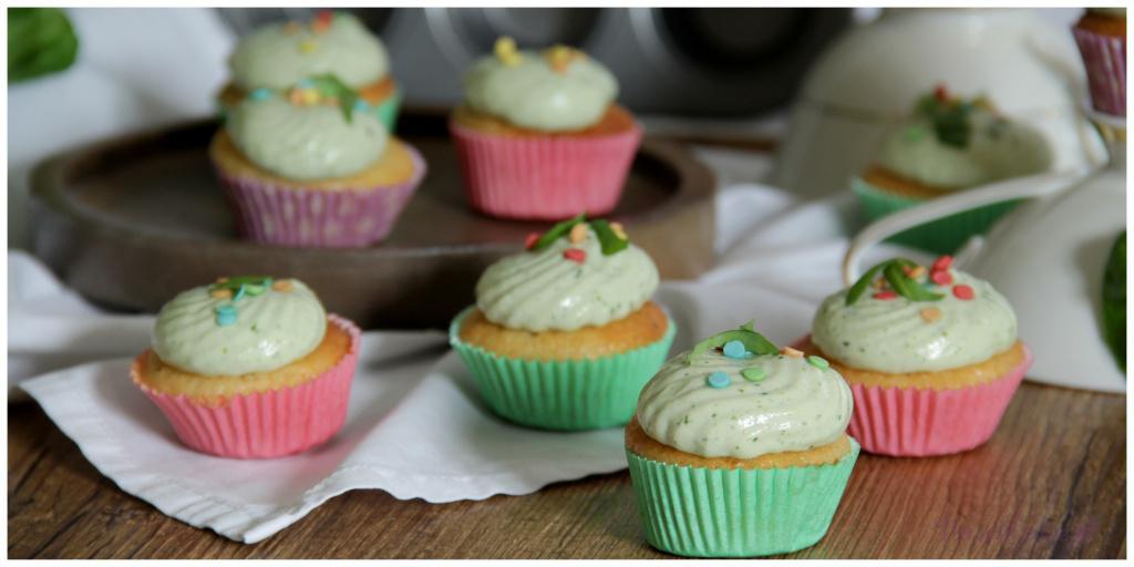 Zitronencupcakes mit Basilikumcreme_vegan5