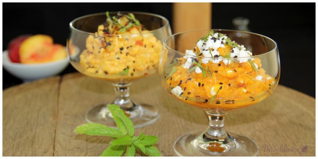 Aufstrich Süßkartoffel, Pfirsich, Feta (1)