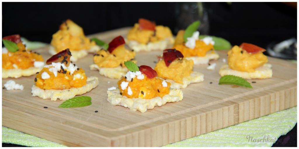 Aufstrich Süßkartoffel, Pfirsich, Feta (2)