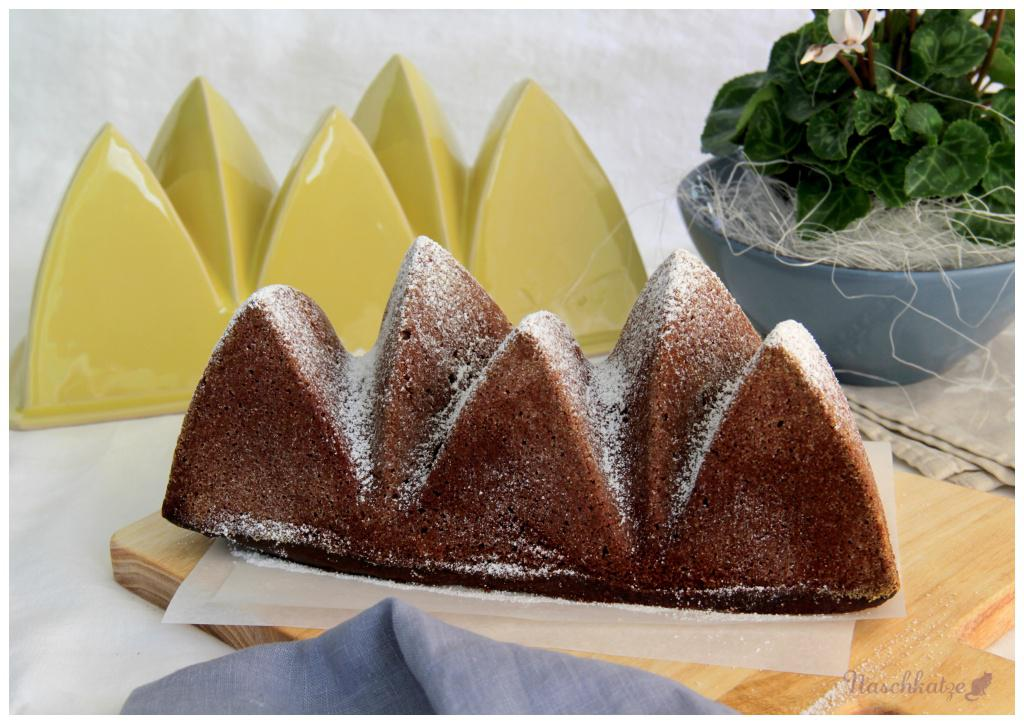 Schoko-Kaffee-Kuchen in Form Opera
