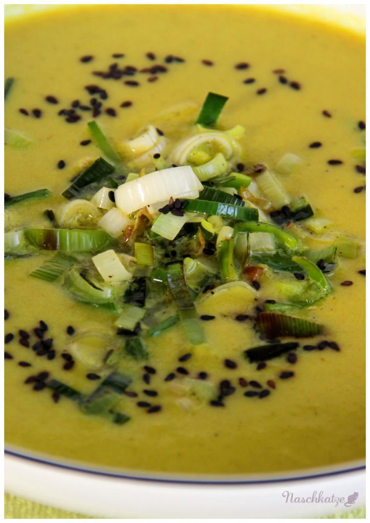 Lauchcremesuppe mit Apfel und Curry (3)
