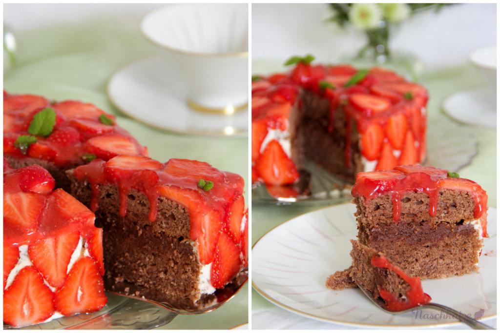 Schoko Erdbeer Torte Zum Muttertag Naschkatze