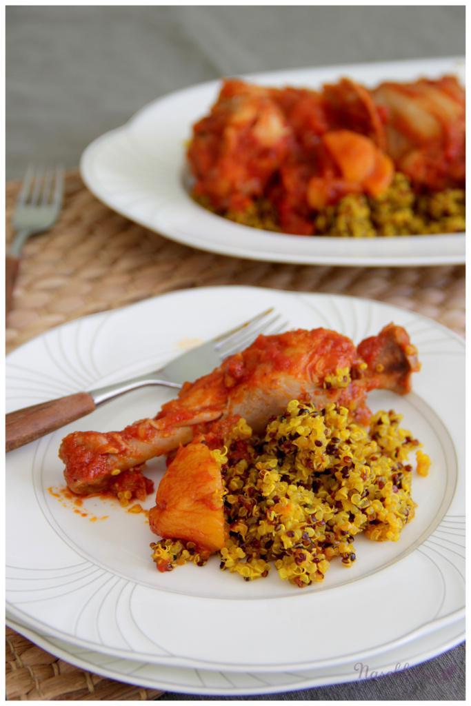 Huhn-Tajine mit Aprikosen und Kurkuma-Quinoa1